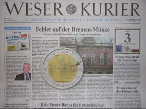 Der neue Mut zur Provinzialität beim Bremer Weser-Kurier.