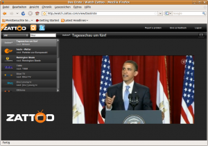 Bei Linux-Betriebssystemen wird der Zattoo Player von Zattoo Web TV abgelöst. Eine browserbasierte Anwendung.