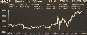 Nach EZB-Geldsegen. DAX im Allzeithoch.